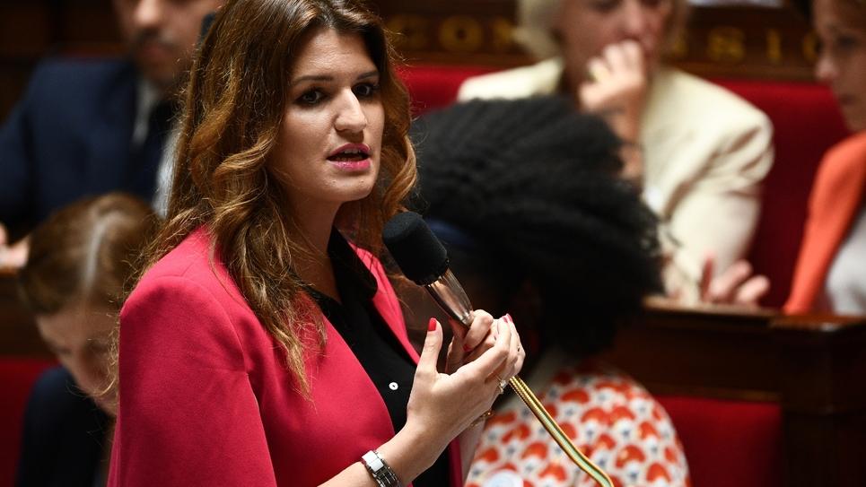 Marlène Schiappa à l'Assemblée nationale, le 8 juillet 2019 à Paris