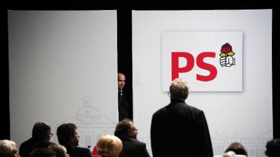 Le logo du PS le 27 octobre 2012 lors du congrès de Toulouse