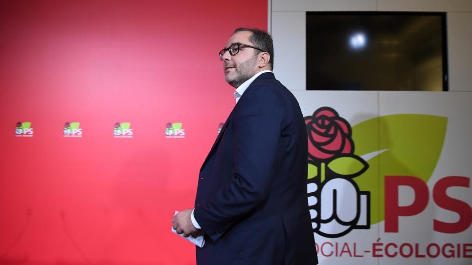 Le coordinateur du PS Rachid Temal, le 30 septembre 2017 à Paris