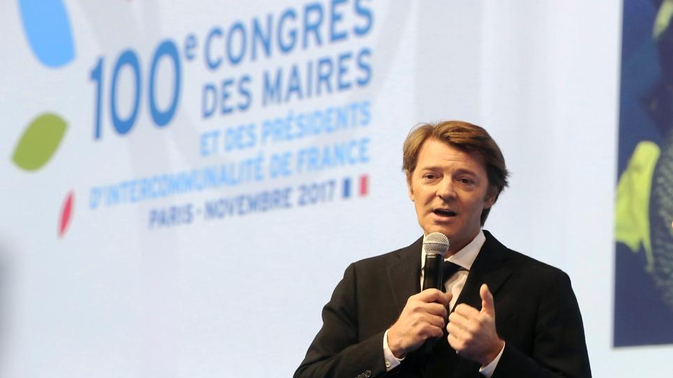 François Baroin, président de l'Association des maires de France, le 21 novembre 2017 à Paris