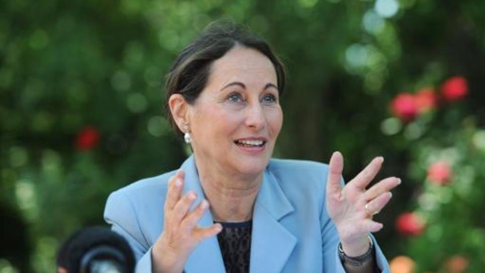 La ministre de l'Ecologie Ségolène Royal lors d'une conférence de presse le 7 juin 2014 à La Rochelle