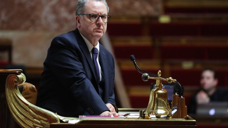 Le président de l'Assemblée nationale Richard Ferrand le 19 mars 2020 à l'Assemblée à Paris