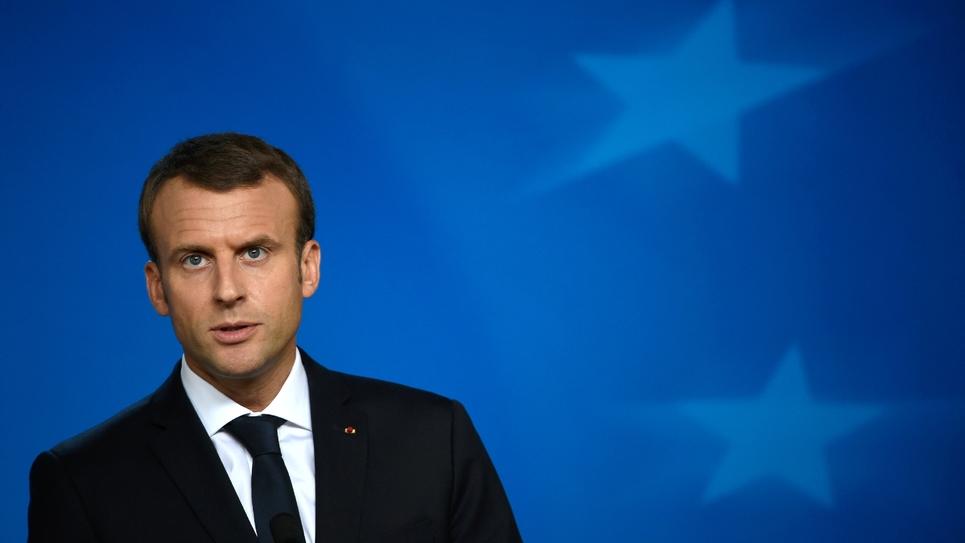 Le président Emmanuel Macron à Bruxelles le 20 octobre 2017