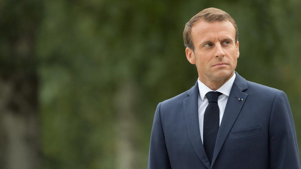 Le président français Emmanuel Macron lors de sa visite officielle à Helsinki, en Finlande, le 30 août 2018