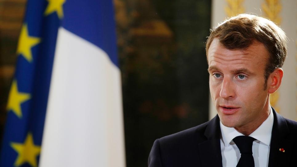 Le président Emmanuel Macron, le 15 octobre 2018 à l'Elysée, à Paris