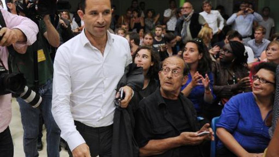 Benoît Hamon à son arrivée le 29 août 2014 à l'université d'été du PS à La Rochelle