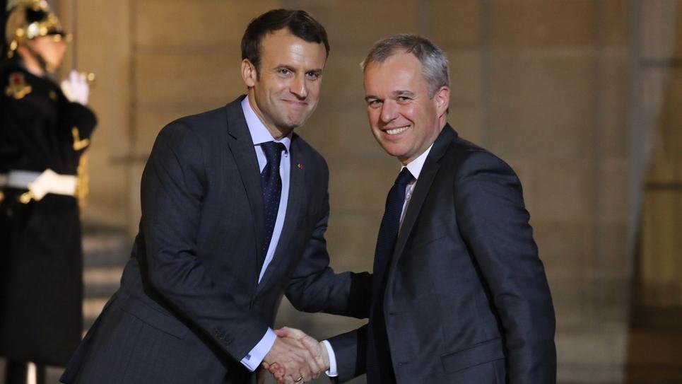 François de Rugy et Emmanuel Macron à l'Elysée, le 20 novembre 2017