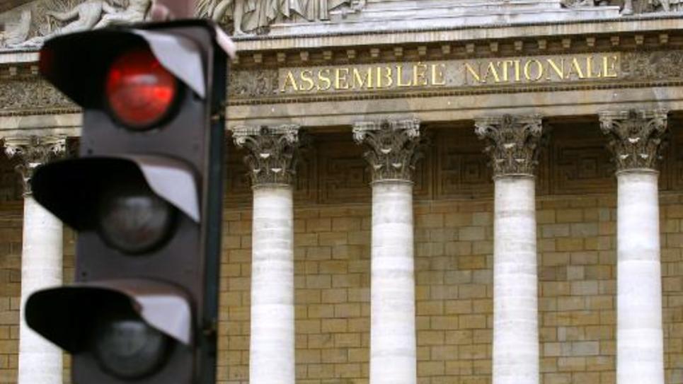 Le fronton du palais Bourbon, à Paris, où siège l'Assemblée nationale