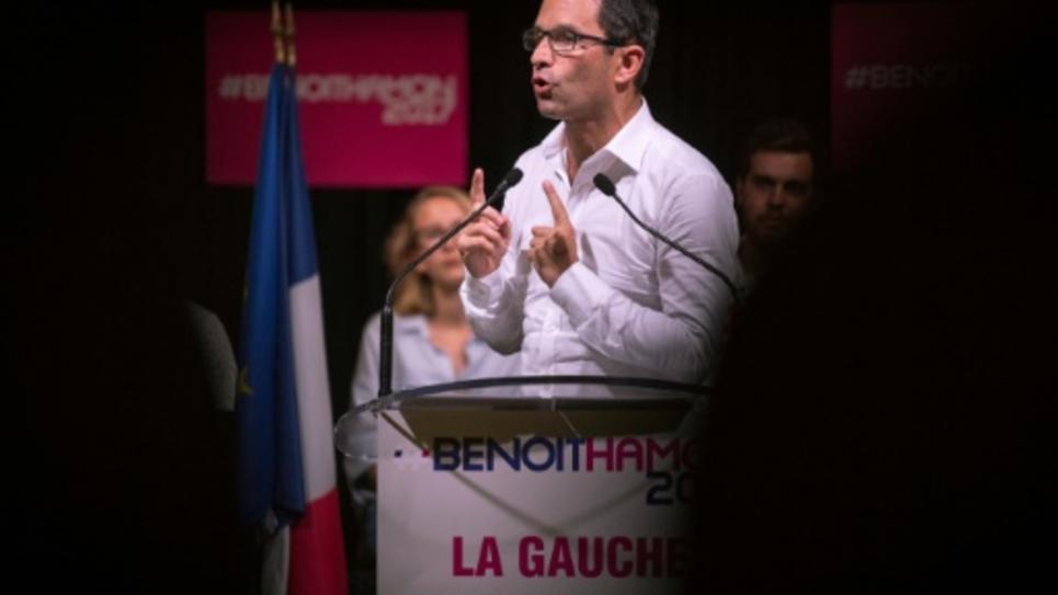 Benoît Hamon, candidat à la primaire initiée par le PS, le 28 août 2016 à Saint-Denis