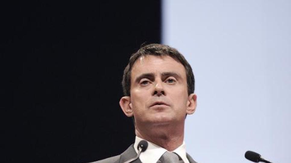 Le Premier ministre Manuel Valls le 2 décembre 2014, prononce un discours à Nantes