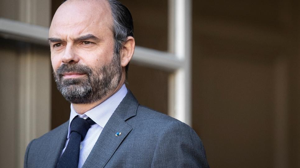 Le Premier ministre Edouard Philippe, le 14 février 2019 à l'Hôtel Matignon, à Paris