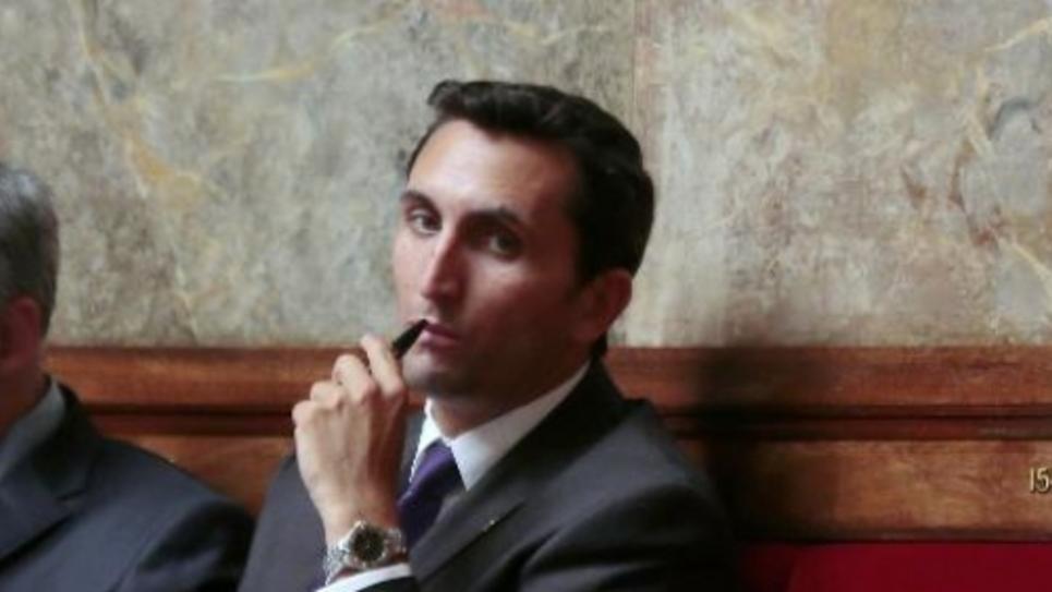 Le député UMP Julien Aubert sur les bancs de l'Assemblée nationale, le 6 juillet 2014