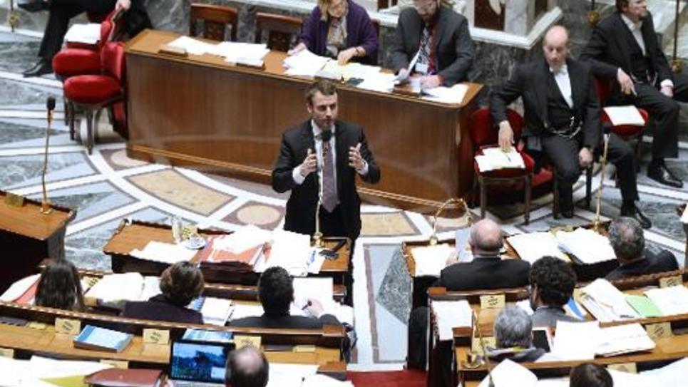 Le ministre de l'Economie Emmanuel Macron à l'Assemblée Nationale, le 14 février 2015