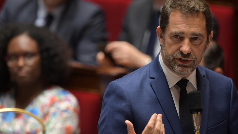Le ministre de l'Intérieur Christophe Castaner à l'Assemblée nationale, le 18 juin 2019, à Paris