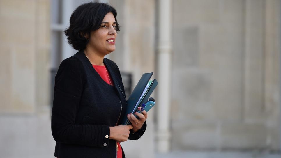 Myriam El Khomri quitte le palais de l'Elysée, le 7 décembre 2016, à Paris