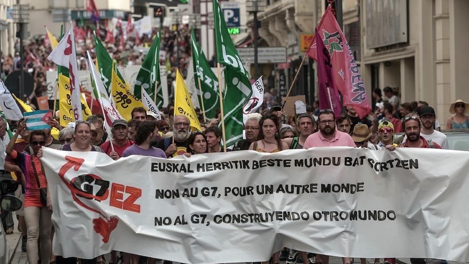 Manifestation le 13 juillet 2019 à Biarritz contre le prochain sommet du G7