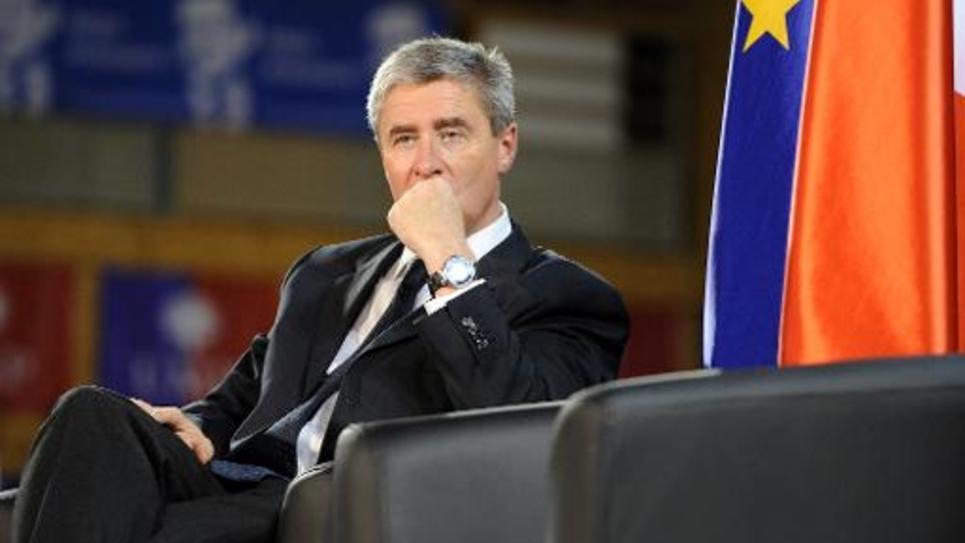 Le député UMP d'Indre-et-Loire Philippe Briand, le 15 octobre 2014 lors d'un meeting de Nicolas Sarkozy à Saint-Cyr-sur-Loire