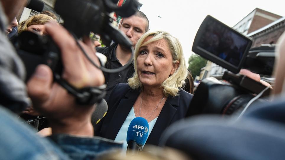 Marine Le Pen en visite à Henin-Beaumont le 8 septembre 2019