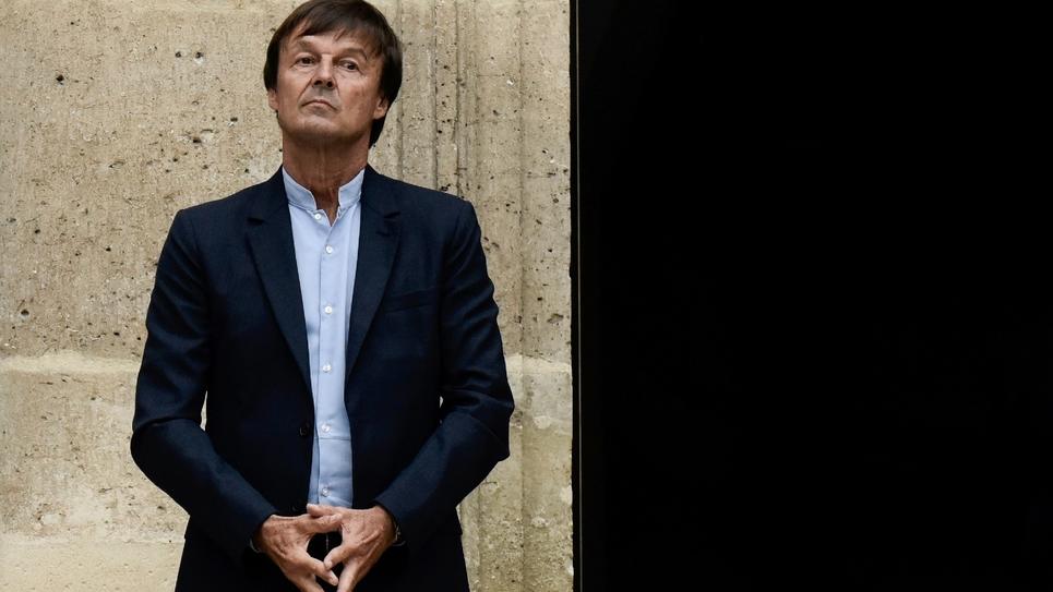 L'ex-ministre de la Transition écologique Nicolas Hulot lors de la cérémonie de passation de pouvoirs, le 4 septembre 2018 à Paris