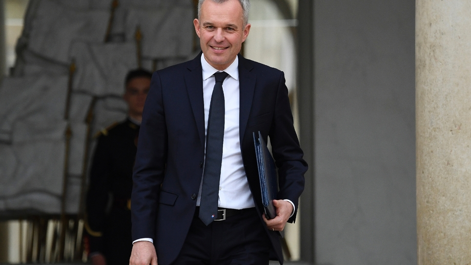 Le ministre de la Transition écologique François de Rugy, le 24 octobre 2018 à l'Elysée, à Paris