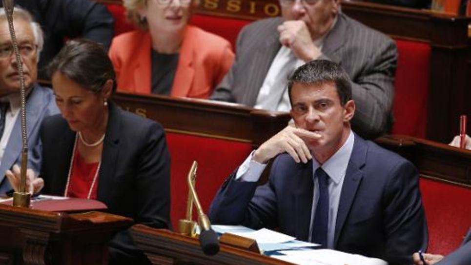 Le Premier ministre Ministre Manuel Valls à l'Assemblée nationale à Paris le 17 septembre 2014