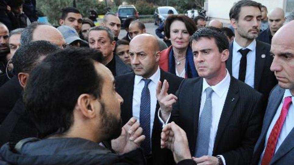 Le Premier ministre Manuel Valls en visite le 22 décembre 2014 à Montpellier