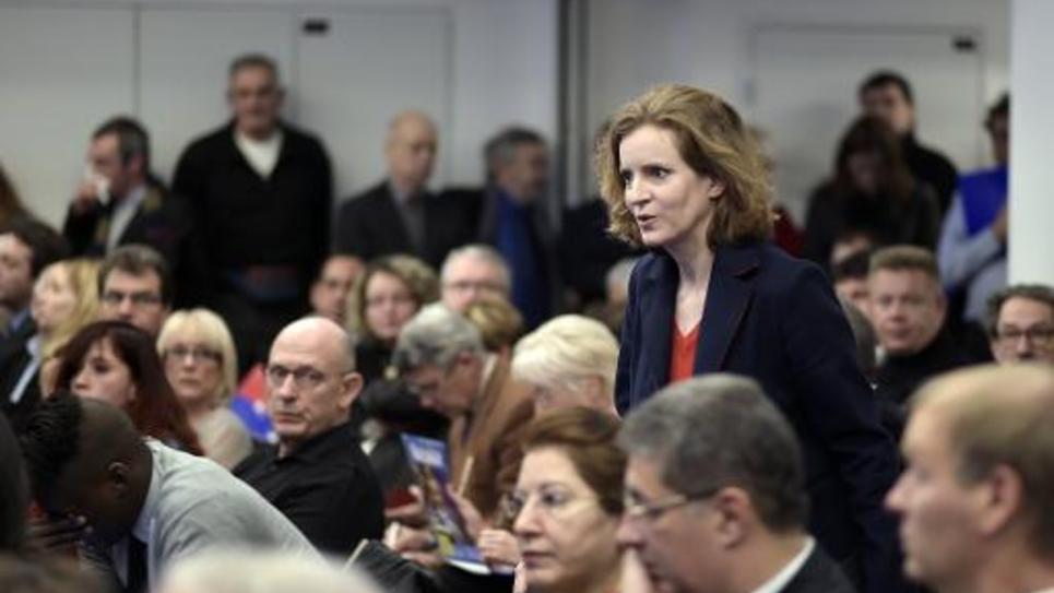 Nathalie Kosciusko-Morizet lors d'une réunion avec les nouveux adhérents, le 17 janvier 2015 au siège de l'UMP à Paris