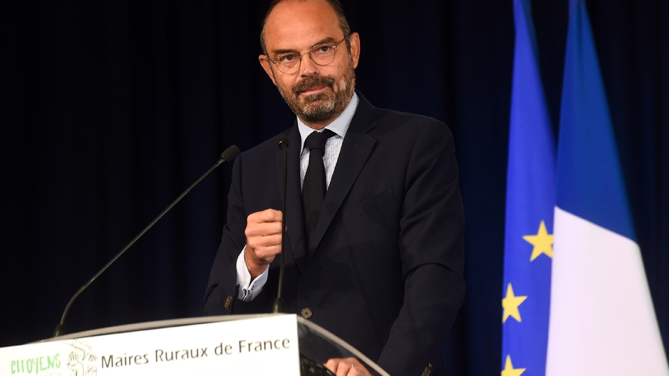 Edouard Philippe le 20 septembre 2019 à Eppe-Sauvage (Nord)