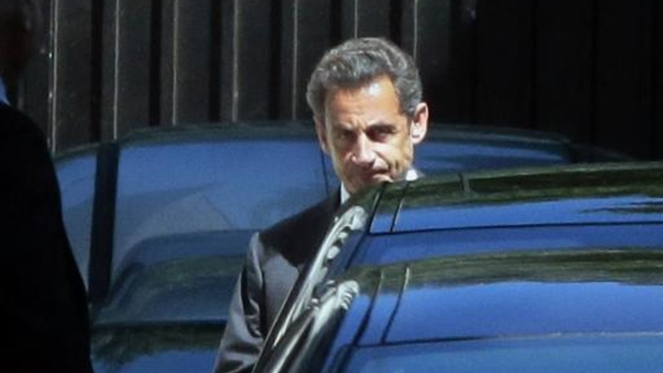 L'ex-président de la République quitte son domicile parisien le 2 juillet 2014