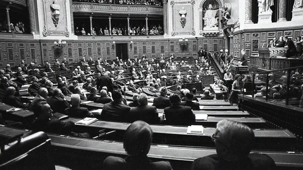 L'hémicycle du Sénat en 1972
