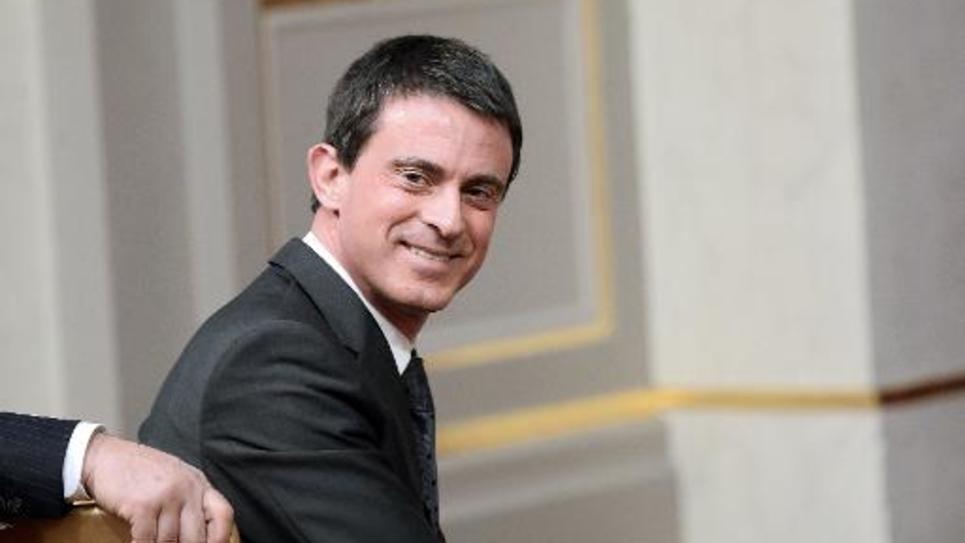 Le Premier ministre Manuel Valls à l'Elysée le 29 avril 2015