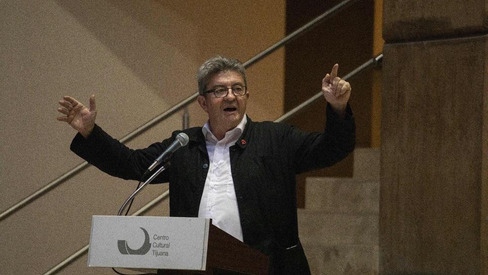 Le leader de la France Insoumise Jean-Luc Mélenchon le 22 juillet 2019 à Tijuana au Mexique