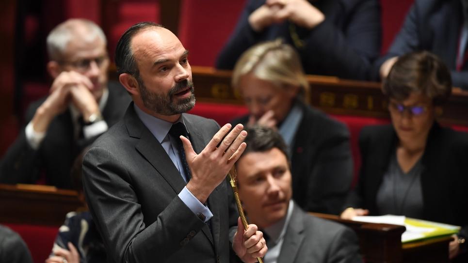 Le Premier ministre Edouard Philippe à l'Assemblée nationale, le 23 janvier 2019 à Paris