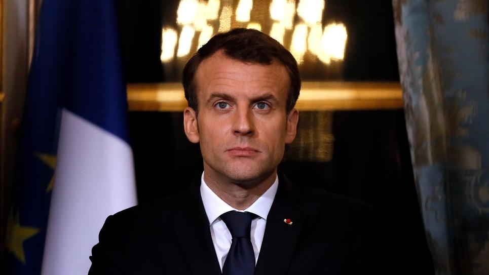 Le président Emmanuel Macron, le 5 mars 2018 à l'Elysée, à Paris