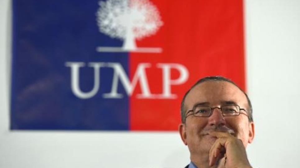 Le candidat à la présidence de l'UMP Hervé Mariton, le 8 octobre 2014 à Aix-en-Provence