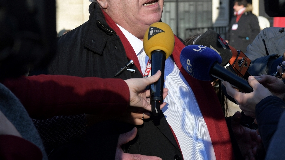 L'ancien inspecteur du travail Gérard Filoche, le 17 décembre 2016 à Paris