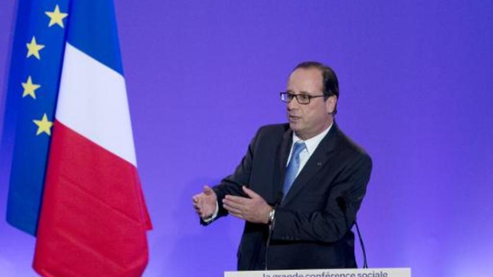 François Hollande lors de l'ouverture de la conférence sociale à Paris, le 7 juillet 2014