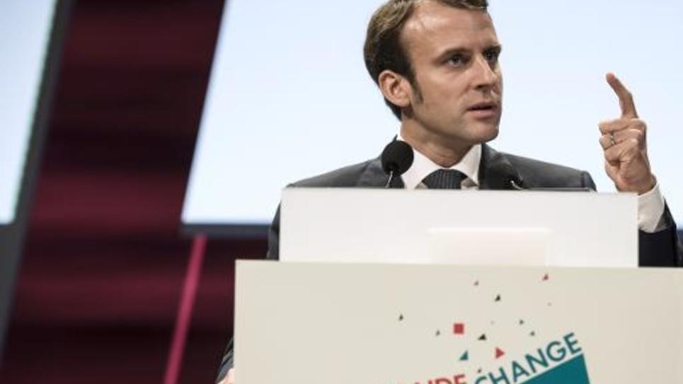 Le ministre français de l'Economie Emmanuel Macron, le 9 octobre 2014 à Lyon
