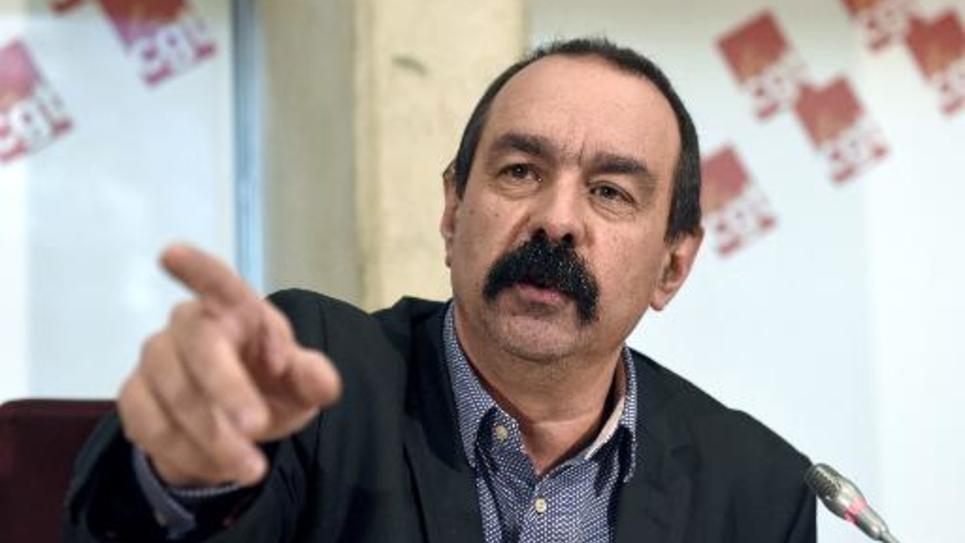 Philippe Martinez lors d'une conférence de presse le 4 février 2015 à Montreuil