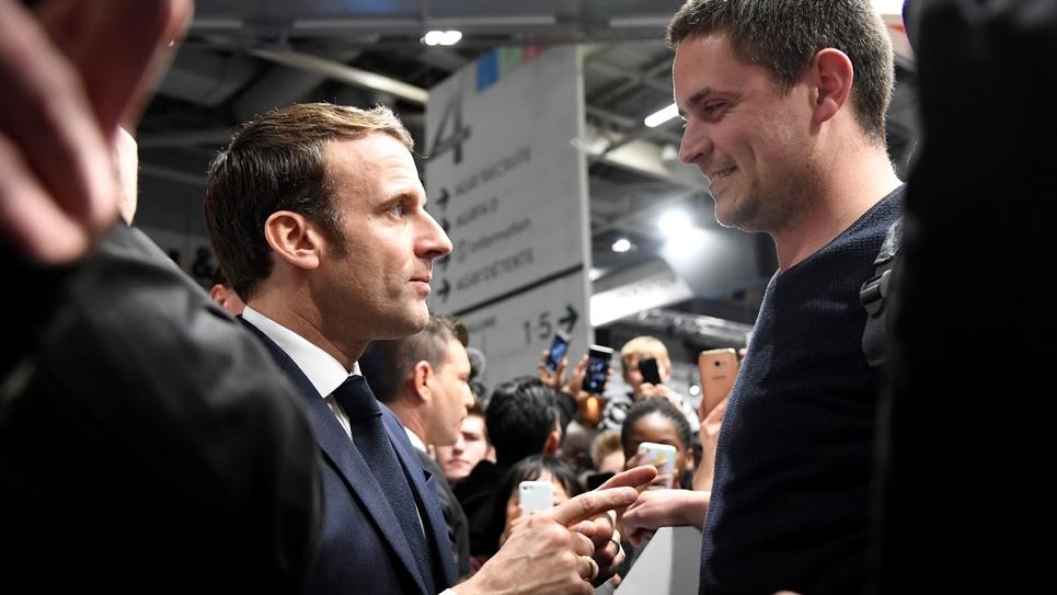 Le président Emmanuel Macron visite le 57e Salon de l'Agriculture, le 22 février 2020 à Paris