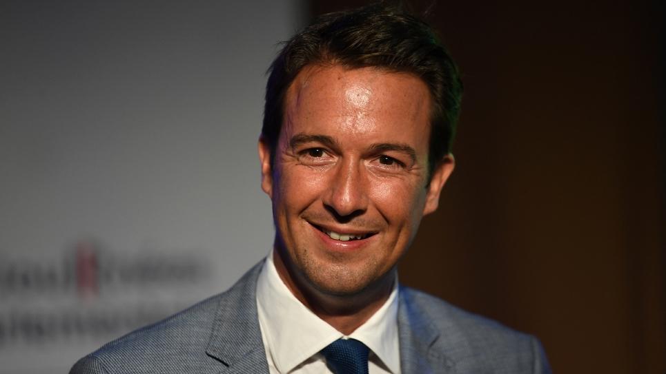 Guillaume Peltier, député et vice-président des Républicains (LR), aux journées parlementaires de son parti le 20 septembre 2018 à Divonne-les-Bains (Ain).