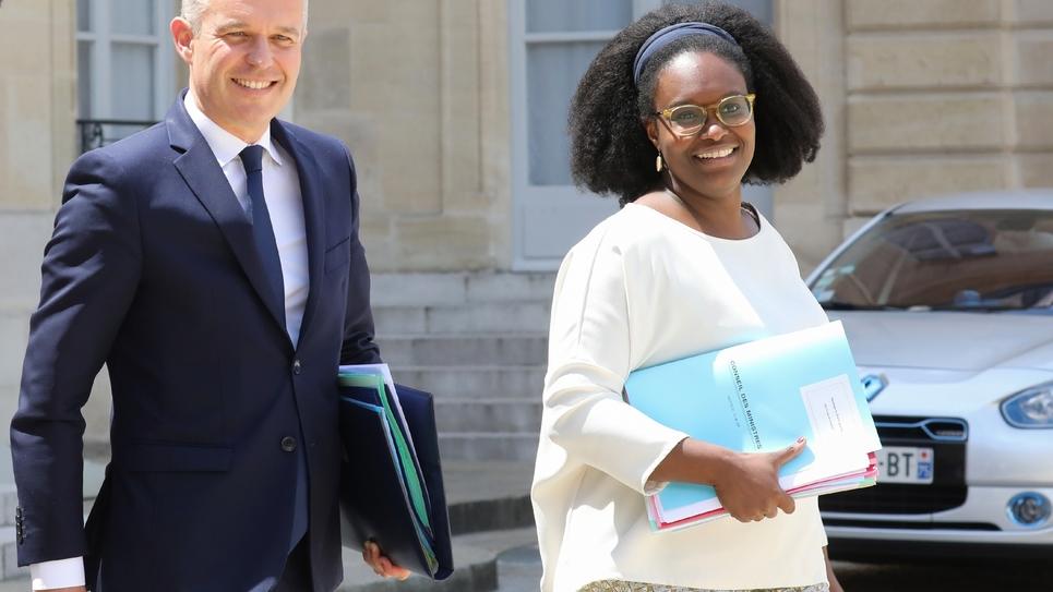 François de Rugy et Sibeth NDiaye le 10 juillet 2019 à l'Elysée