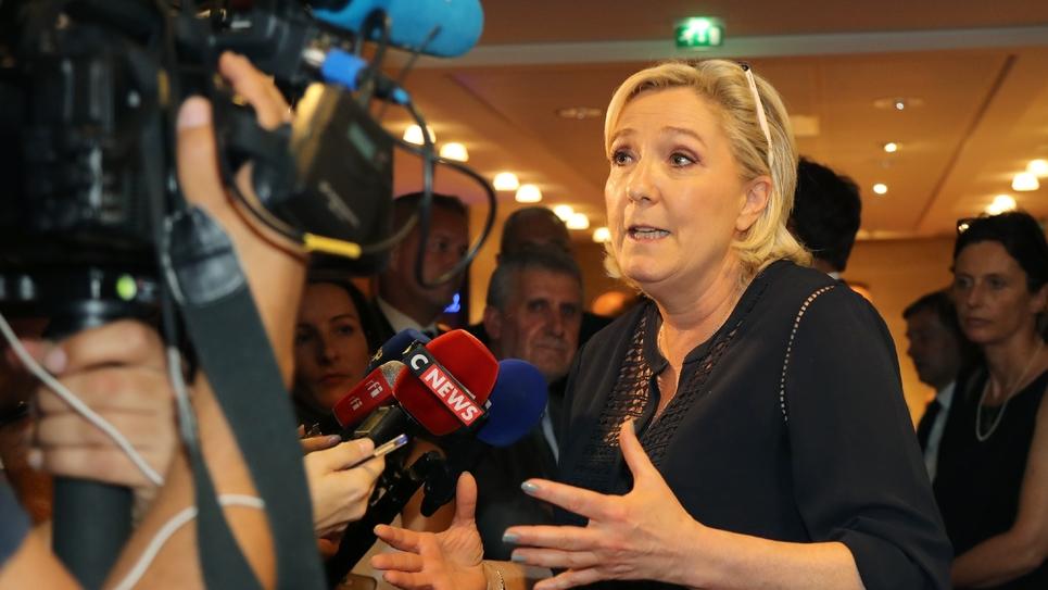 Marine Le Pen le 23 juillet 2018