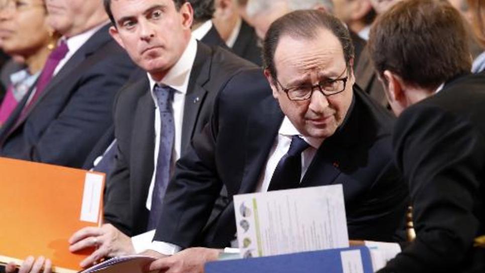 François Hollande et Manuel Valls à l'Elysée le 27 novembre 2014