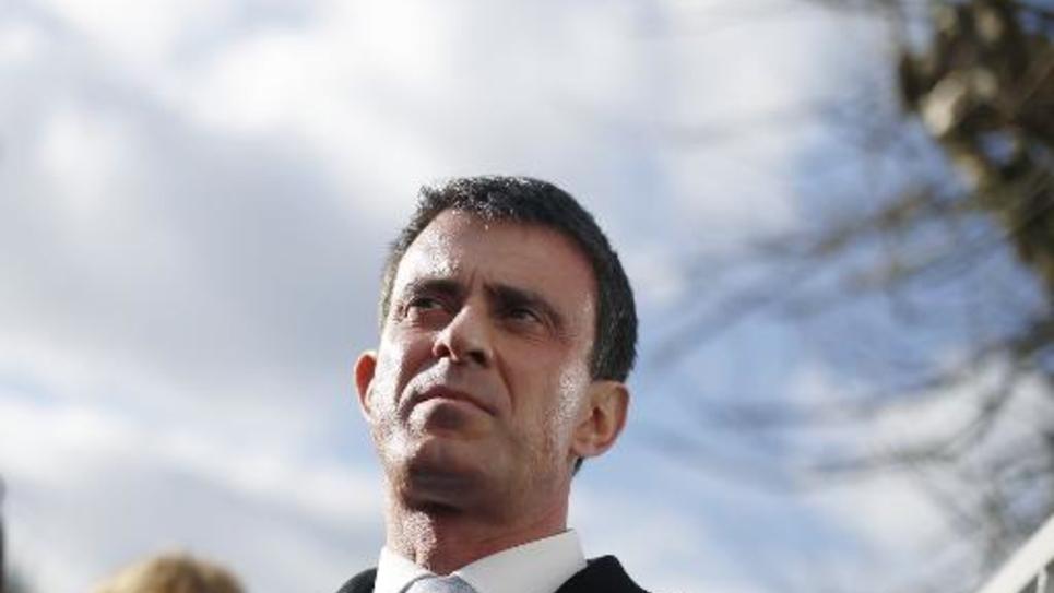 Manuel Valls à Cachan (Val-de-Marne) le 4 mars 2015