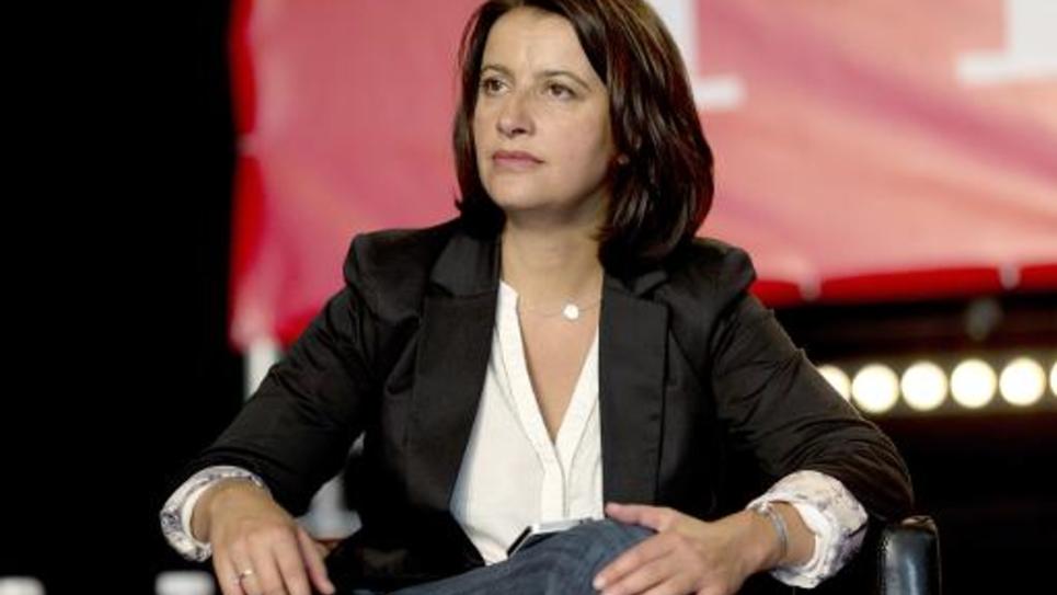 La députée écologiste Cécile Duflot à la Courneuve le 12 septembre 2014