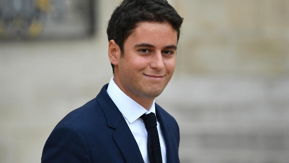 Le secrétaire d'État auprès du ministre de l'Éducation, Gabriel Attal, en charge du service national universel, le 24 octobre 2018 à l'Elysée, à Paris