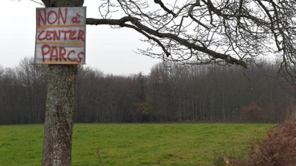 Un panneau contre la construction du Center Parcs à Roybon, en Isère, le 30 novembre 2014