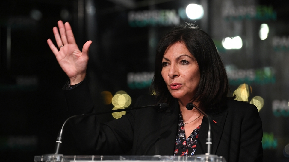 Anne Hidalgo, maire de Paris et candidate à sa succession, le 13 janvier à Paris
