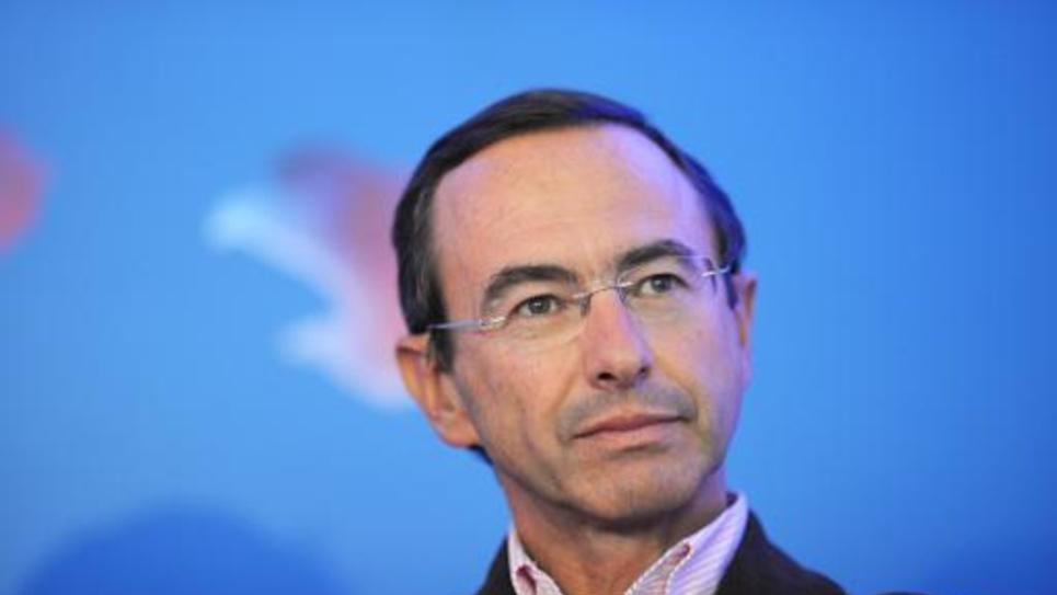 Bruno Retailleau,chef du groupe UMP au Sénat, le 27 août 2014 à Rouez-en-Champagne (ouest)